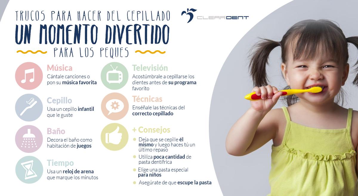 trucos para habitos de higiene dental niños