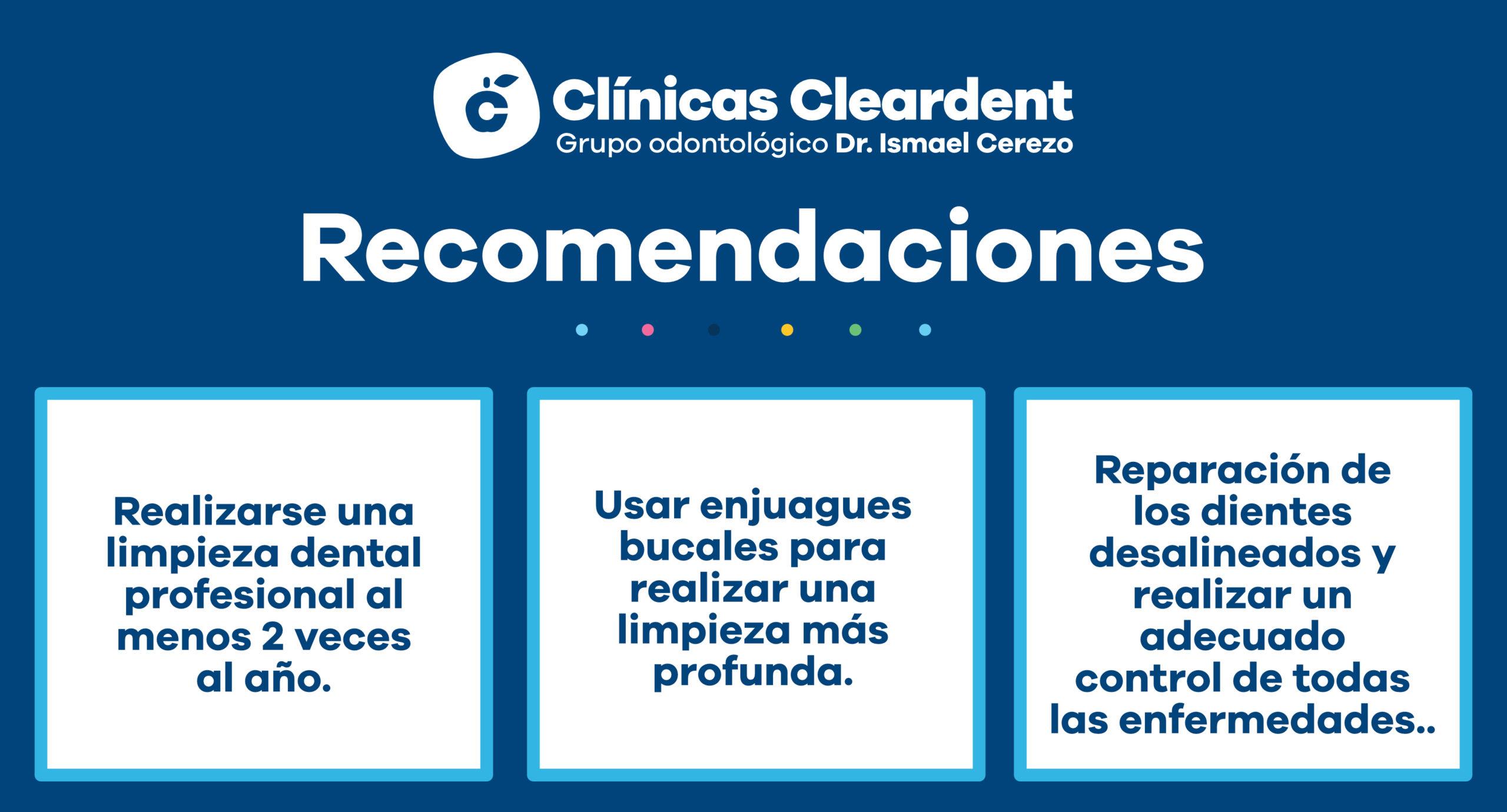 Infografía con recomendaciones para evitar la gingivitis.